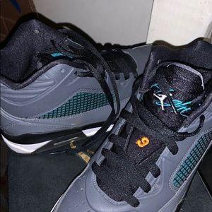 Jordan's grey, teal, black